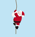 Santa on the rope vector image vector image