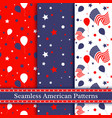 seamless american patterns vector image vector image