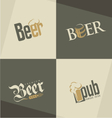 set beer logo design templates vector image vector image