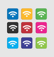 set colorful wifi icon for smart phone vector image vector image