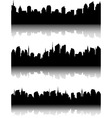 set of business city skyline vector image vector image