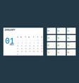 simple 2021 year calendar week starts on sunday vector image