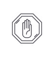 stop line icon concept stop linear vector image