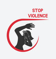 stop violence against women poster vector image