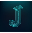 The letter J Polygonal letter Low poly model vector image
