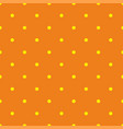 tile summer pattern with small yellow polka dots vector image