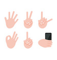 various gesture collection vector image