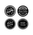 Vintage badges 2 vector image vector image