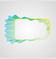 wavy bright gradient rectangular frame stylized vector image vector image