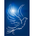white dove in a blue sky vector image vector image