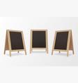 wooden menu chalkboards realistic set bar cafe vector image vector image