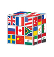 world cube vector image vector image