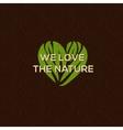 Organic food logo emblem for natural food drink vector image