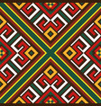seamless oriental colourful pattern vector image
