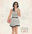 Urban girl vector image