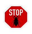 cockchafer traffic sign vector image