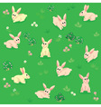 Seamless pattern of summer meadow with rabbits vector image