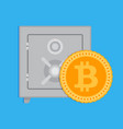 accumulation bitcoin capitalization vector image vector image