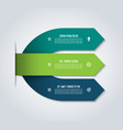 arrow infographic template with 3 options vector image vector image