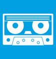 audio cassette tape icon white vector image vector image