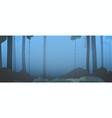 background dark forest at sunrise vector image