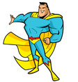 Big Chin Superhero vector image vector image