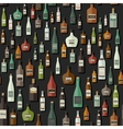 Bottles seamless pattern vector image