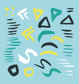 bright collection hand-drawn elements drops vector image