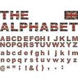 British flag font vector image