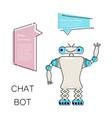 cartoon cute chat bot vector image