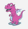 cartoon little pink dragon image vector image