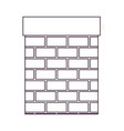 chimney in brick material on white background vector image