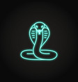 cobra snake icon in glowing neon style vector image vector image
