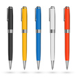 Colored pens vector image vector image
