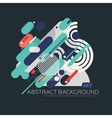 Colorful geometric composition vector image