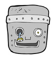 comic cartoon robot head vector image vector image