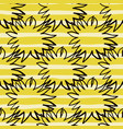 creative seamless pattern with black contoured vector image vector image