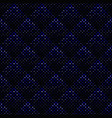 dark blue abstract geometrical square pattern vector image vector image