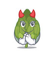 devil artichoke mascot cartoon style vector image vector image