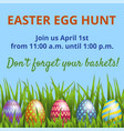easter hunt invitation card vector image vector image