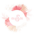 floral wreath with watercolor dry pastel flowers vector image vector image