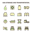 Gas transportation icon vector image vector image