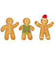 Gingerbread Mans Set vector image vector image