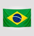 hanging flag brazil federative republic of vector image