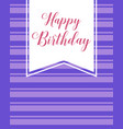 happy birthday greeting card collection vector image