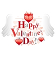 Happy Valentines day romance love text lettering vector image vector image