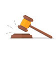 judje hammer icon law gavel auction court hammer vector image vector image
