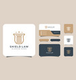 law firm and shield logo design and business card vector image vector image