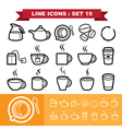 Line icons set 19 vector image vector image