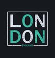 london t-shirt print vector image vector image